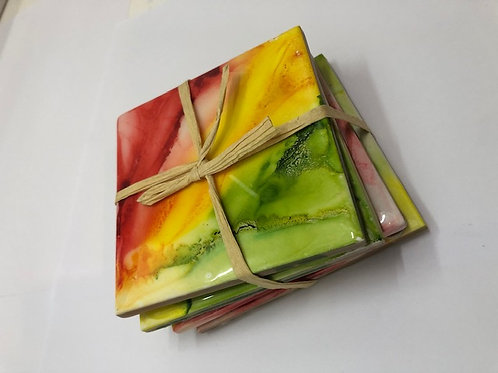 Coasters Alcohol Ink (4 Coasters) #3