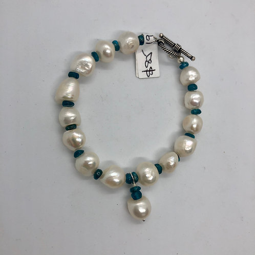 Freshwater pearls, apatite and sterling silver #33