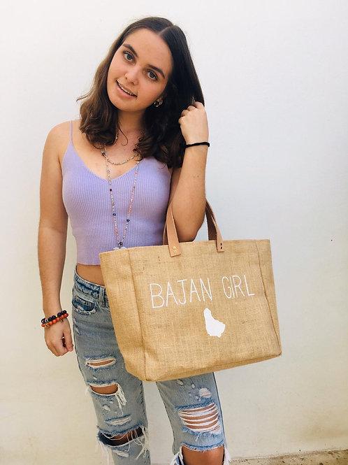 Bajan Girl Jute Bag