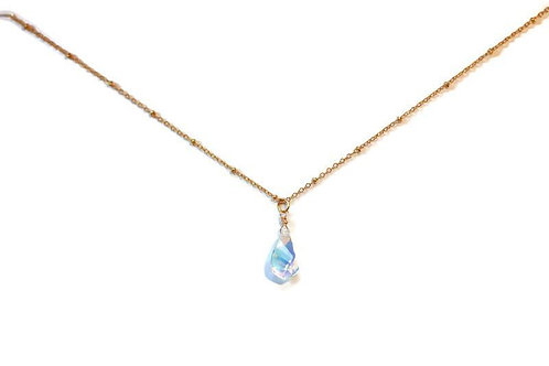 Swarovski Stone Necklace 24k gold plated #4