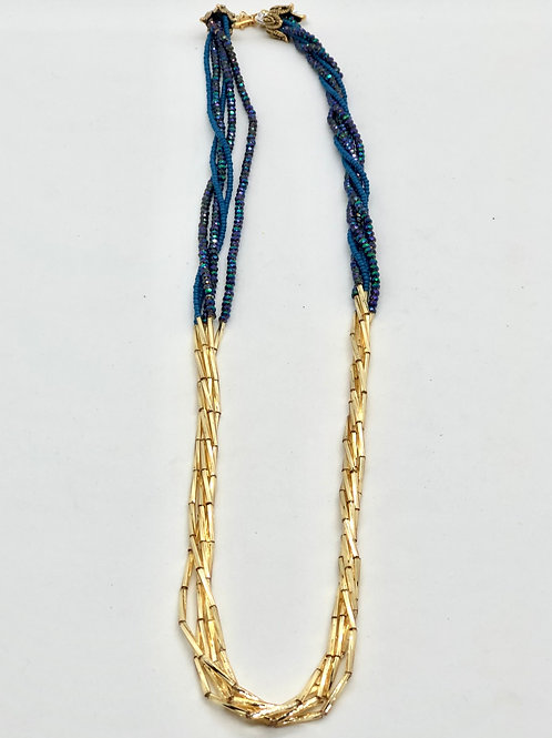 """26"""" blue and gold 5 strand #47"""