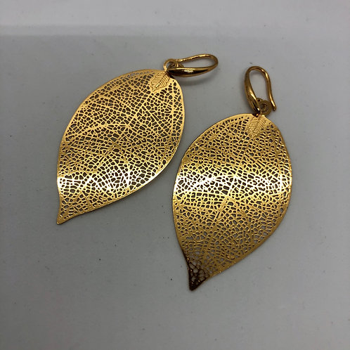 Goldplated leaf earrings #15 & #16