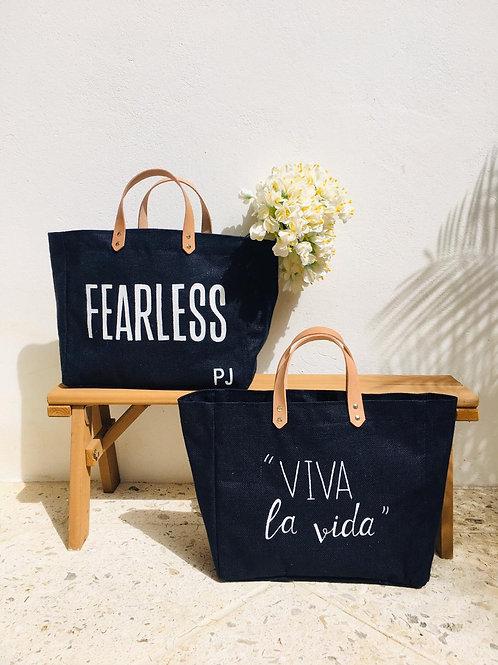 Fearless or Viva La Vida Jute Bag