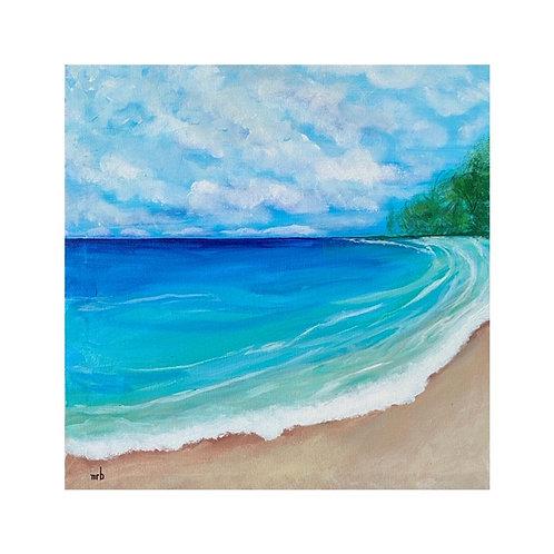 Tiki Beach 14 x 14 x 1
