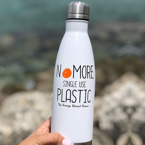 "Bottle""No More Single Use Plastic"""