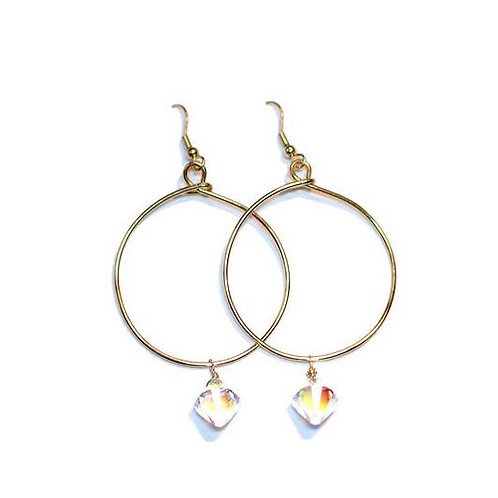 Swarovski Hoops 24k gold plated #2