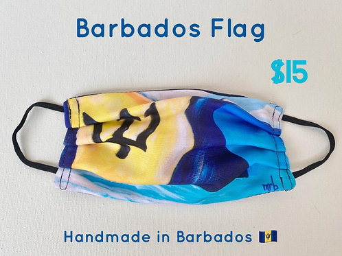 Barbados Flag face mask