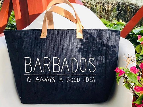 Barbados is always a good idea jute bag