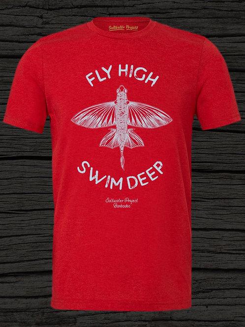 Fly High - Swim Deep round neck t-shirt.