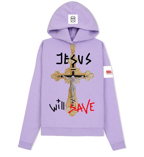 "Hoodie ""JESUS WILL SAVE"""