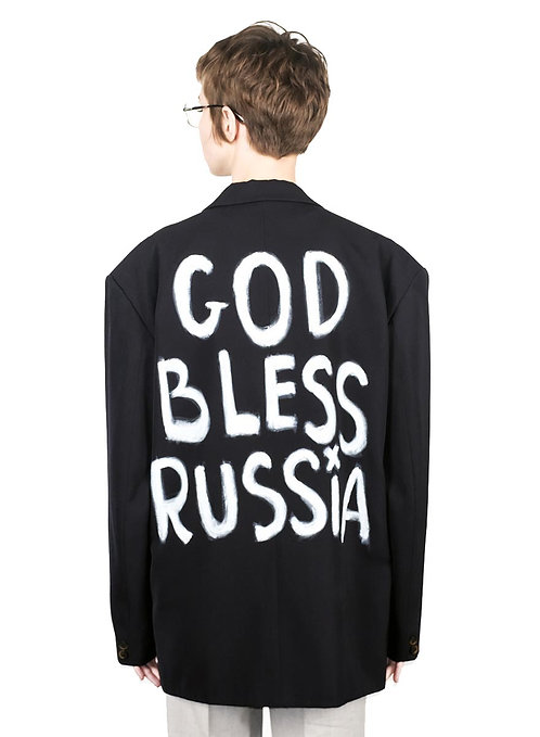 """JACKET """"GOD BLESS RUSSIA"""""""