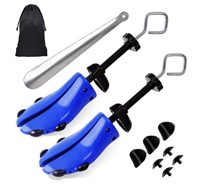 4-Way shoe stretcher kit with multiple addapters to help customize your shoes fit.