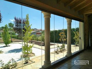 Cortinas de cristal en Burgos / Frameless glass doors in Burgos