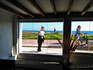 Cortinas de cristal en Torre la Sal / Frameless glass doors in Cabanes