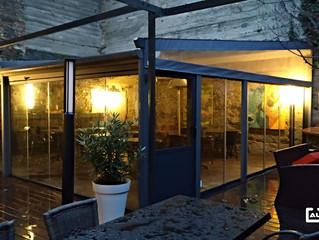 Cortinas de cristal y correderas de crisrtal instaladas en Francia / Frameless glass doors and slidi