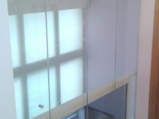 Cortinas de cristal en Villarreal / Frameless glass doors in Villarreal