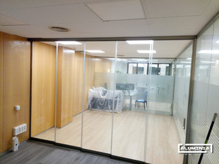 Correderas de cristal / Sliding glass without vertical profile