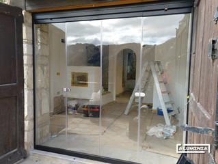 Cortinas de cristal serie lisa / Frameless glass doors serie lisa