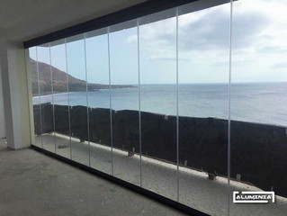 Cortinas de cristal serie lisa / Frameless glass doors serie lisa