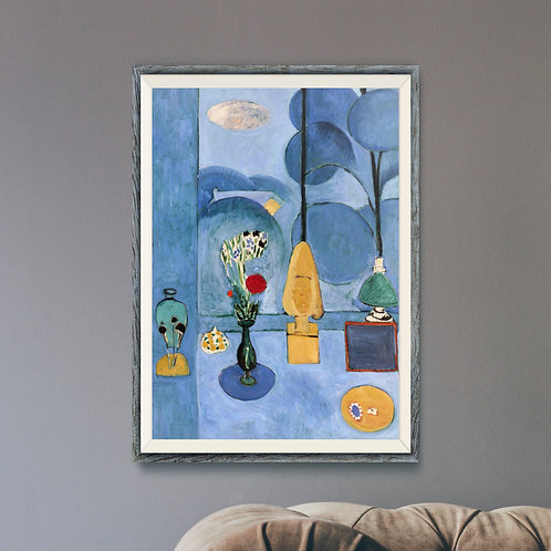 Framed Giclèe Art Print Mockup - Oil on Canvas Expressionist Painting
