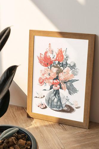 Johan Teyler -  Flowers In A Vase 1 (À La Poupée)