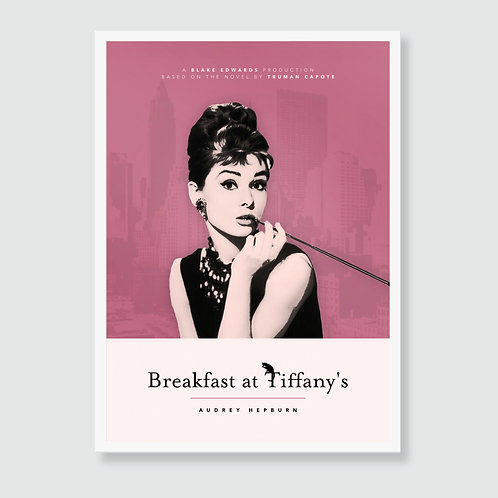 BREAKFAST AT TIFFANY'S (Audrey Hepburn, Truman Capote) Film Art Print / Movie Poster