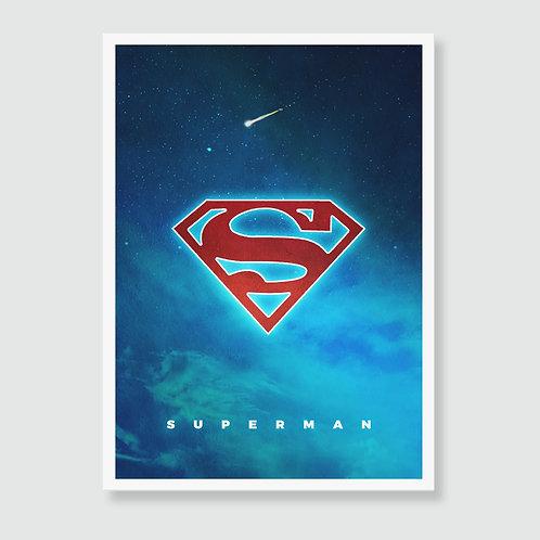 SUPERMAN [1978] (Christopher Reeves) DC Comics Film Art Print / Superhero Movie Poster