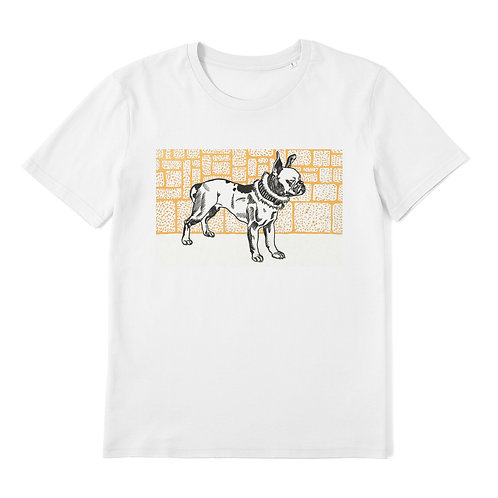 Pitbull Terrier - 100% Organic Cotton Unisex T-Shirt featuring a Vintage Animal Lithograph by Moriz Jung