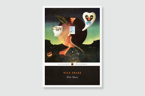 NICK DRAKE - Pink Moon (In style of Classic Book Cover)