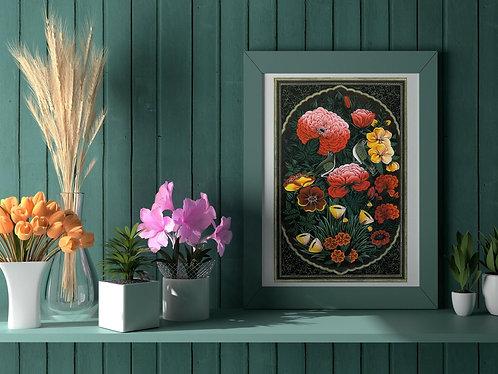 Gol-o-Morgh (Flower & Bird) Traditional Persian Art