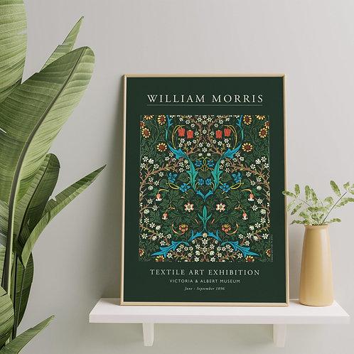William Morris - Tulip (Minimalist Exhibition Poster)
