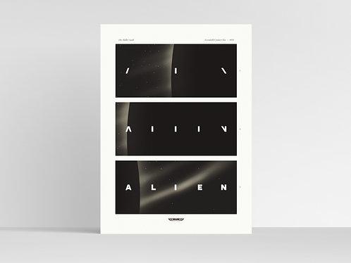ALIEN [1979] (Ridley Scott) Film Title Card Art Print / Movie Poster