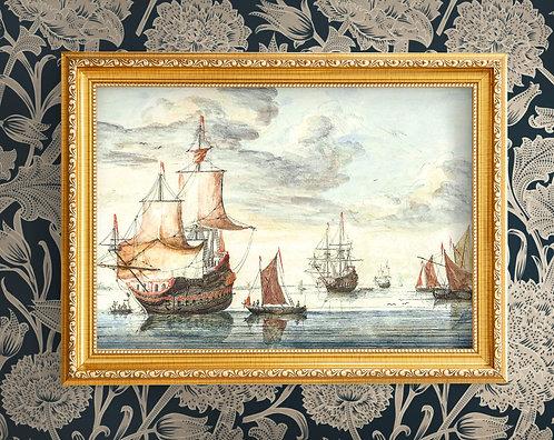 Johan Teyler - Ships On A Calm Sea