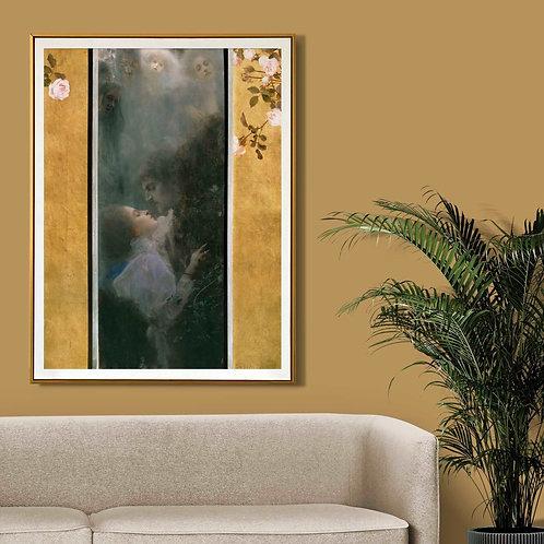 Gustav Klimt - Liebe (Love)