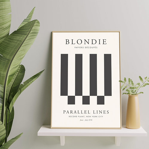 Blondie - Parallel Lines (Exhibition Poster)