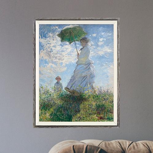 Framed Giclèe Art Print Mockup - Oil on Canvas Impressionist Painting