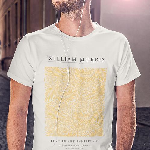 William Morris - Larkspur (Exhibition Poster Style T-Shirt)
