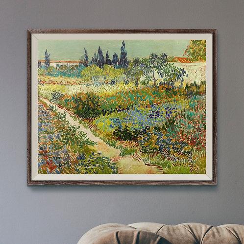 Framed Art Print Mockup - Oil on Canvas Post-Impressionist Painting