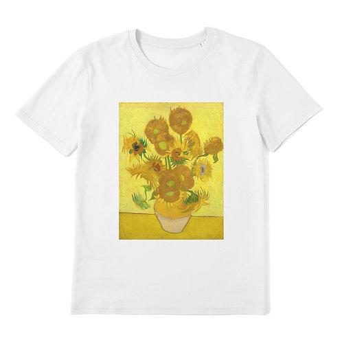 VINCENT VAN GOGH - Sunflowers - 100% Organic Cotton Unisex T-Shirt featuring Classic Art