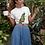 Peacock Print T-Shirt Vintage Indian Peacock Lithograph on Organic Sustainably Produced Cotton