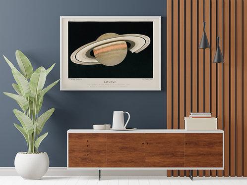 F. Meheux - Planet Saturn Lithograph