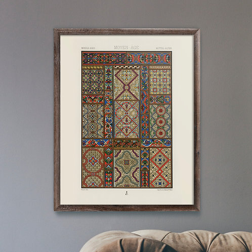 Framed Giclèe Art Print Mockup - Middle Ages Print Lithograph