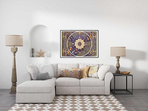 Zodiac Chart of Prince Eskandar-Soltan (Persian Horoscope Art for the Timurid)