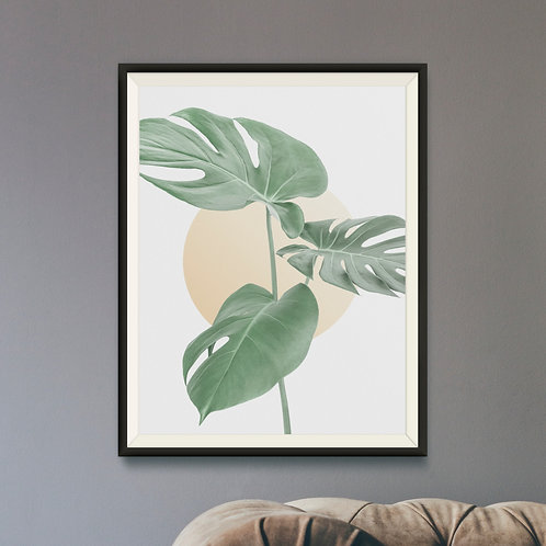 Framed Giclèe Art Print Mockup - Minimalist Plant