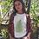 Vintage Style Fern Leaf Botanical Plant Art Print T-Shirt Unisex & Organic