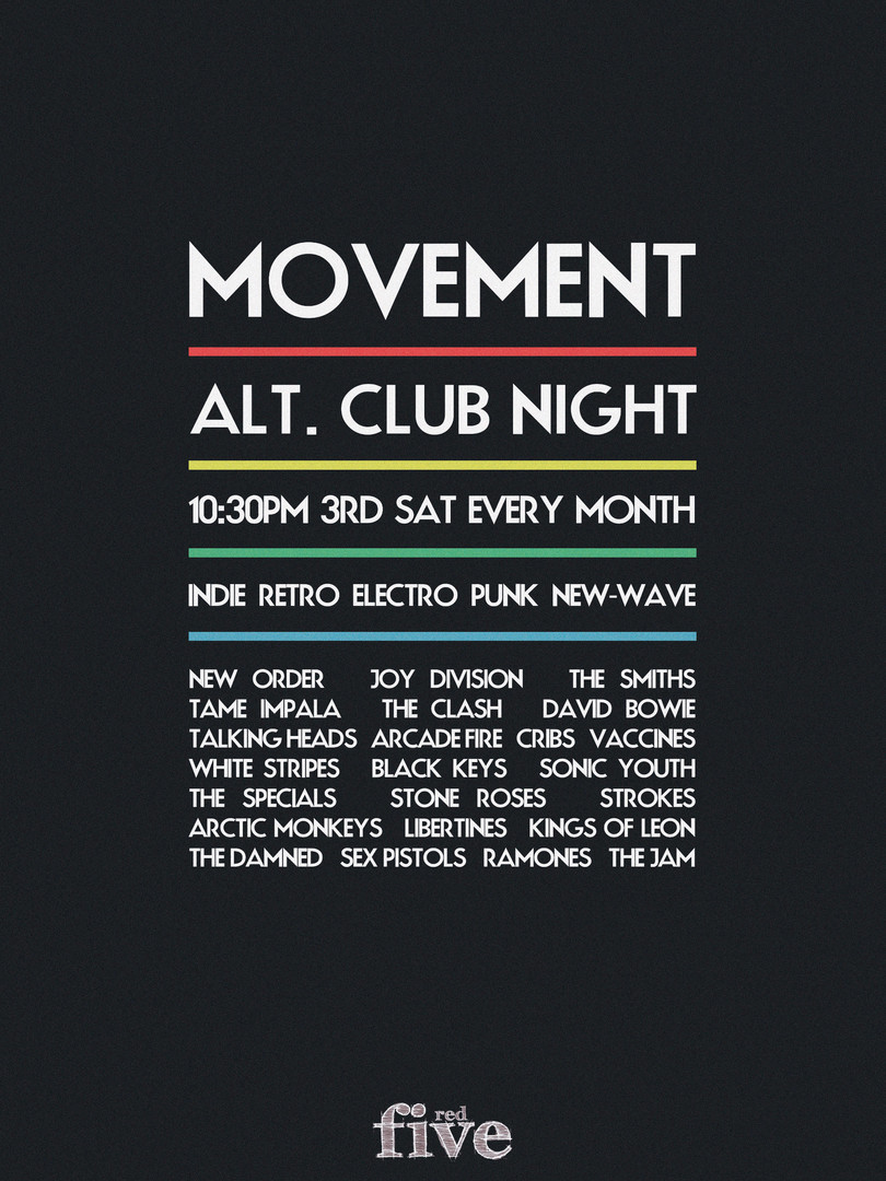 Back To Mono Records Movement Club Night Poster Design