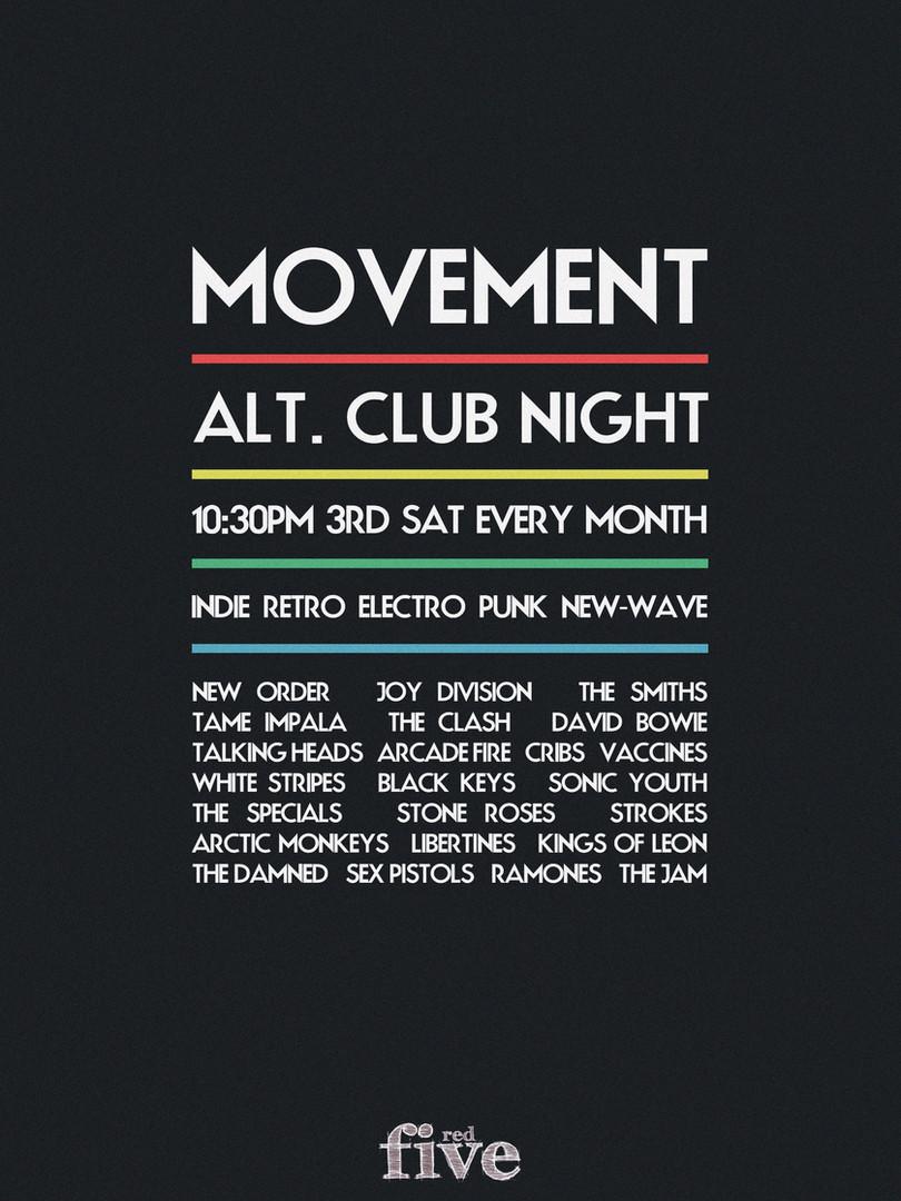 Back To Mono Records Movement Club Night Poster Design