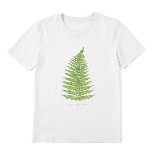 Fern Leaf - 100% Organic Cotton Unisex T-Shirt featuring Vintage Botanical / Plant Art