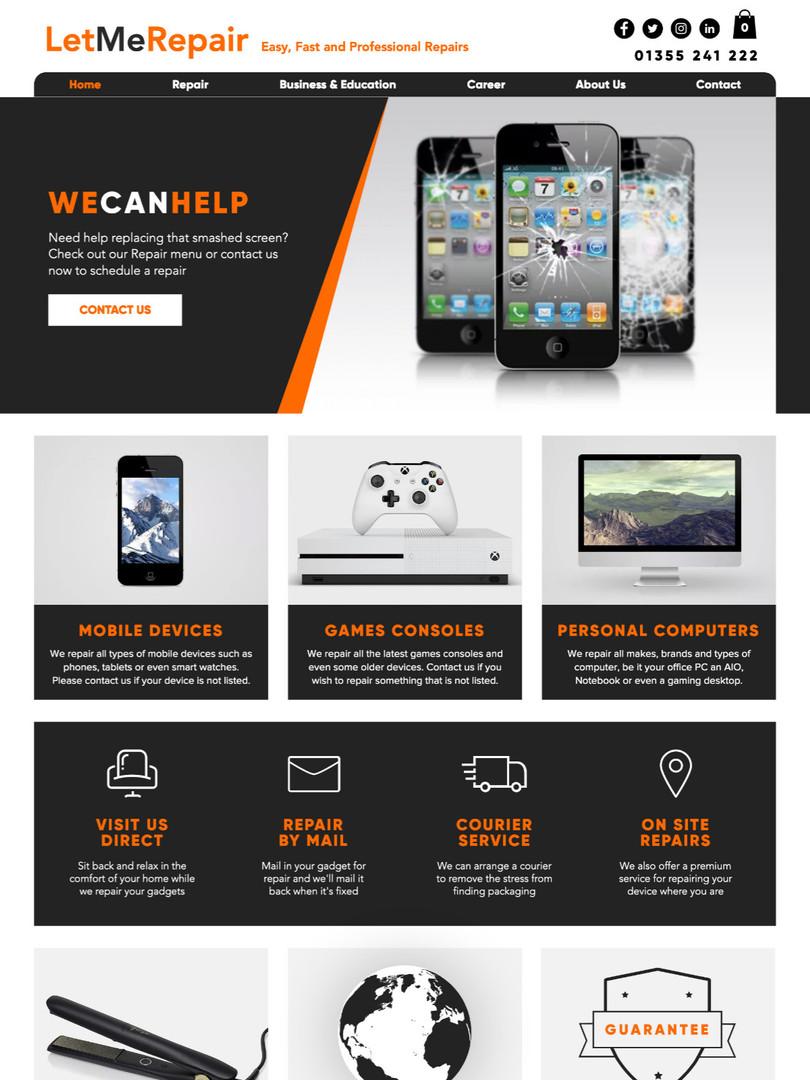 Let Me Repair Website Design