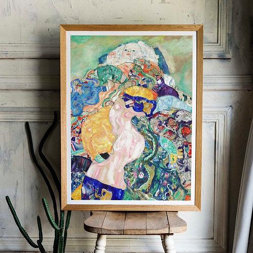 Gustav Klimt - Baby / Cradle